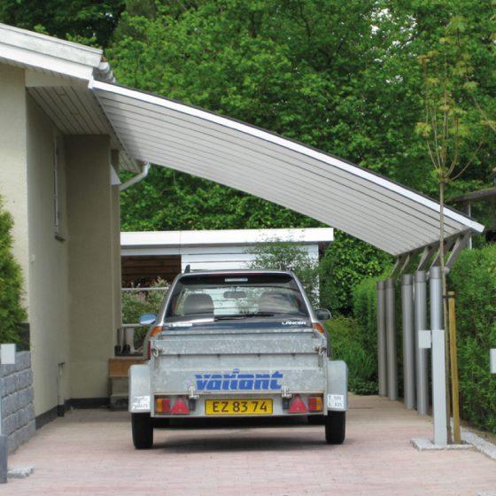 Specialbygget enkelt carport