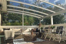 Specialbygget terrasseoverdækning