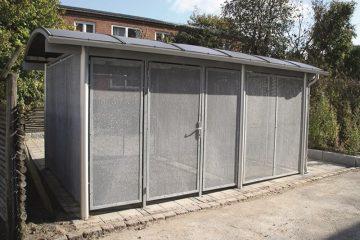 Fritstående miljøstation i aluminium