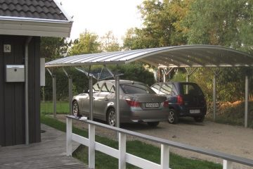 Fritstående dobbelt carport i dansk design og kvalitet