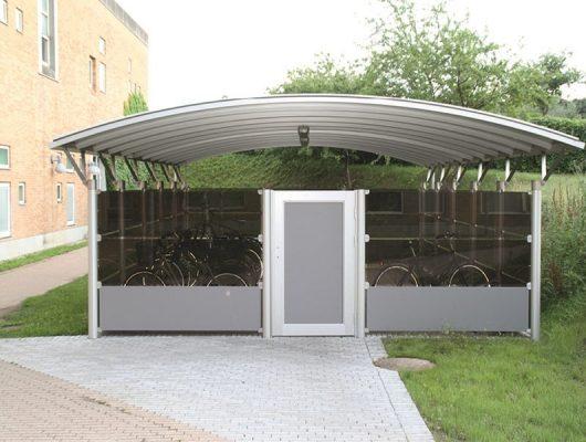 cykeloverdaekning-lukket-cykelskur-aluminium-4200-slagelse-sygehus