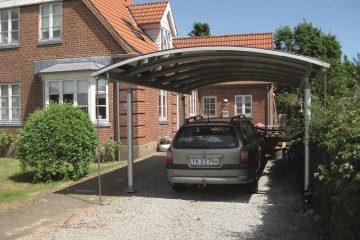 Enkelt fritstående aluminiums-carport