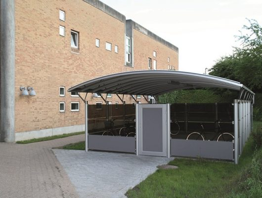 lukket-cykelskur-cykeloverdaekning-aluminium-4200-slagelse-sygehus