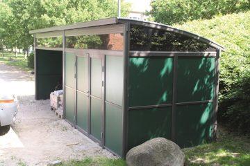 Miljøstation og opbevaringskur af høj kvalitet ved Danske Spil