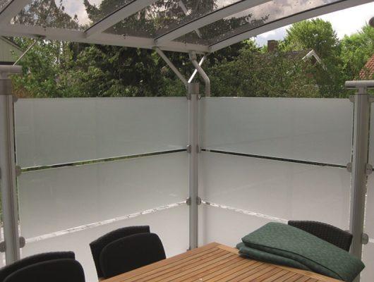 Overdækning Terrasse I Aluminium Med Hævebeslag