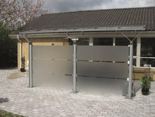 Overdækning Terrasse Væghængt Med Hævebeslag Aluminium