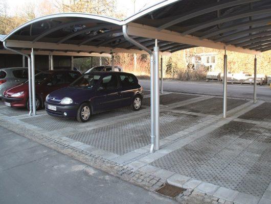 Sammenbyggede carporte til Boligselskab