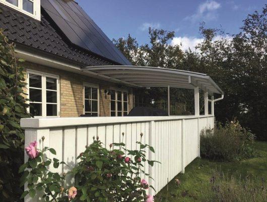 Terrasse Træhegn Overdækning Vægmonteret Terrasseoverdækning