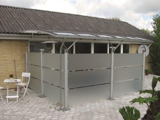 Terrasse Vægmodel Overdækning Af Terrasse Aluminium Med Glashegn