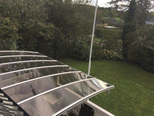 Terrasseoverdækning Smuk Vægmodel Med Hegn