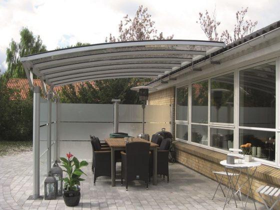 Terrasseoverdækning Væghængt Med Hævebeslag