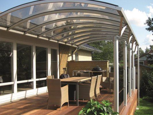 Terrasseoverdækning Vægmodel