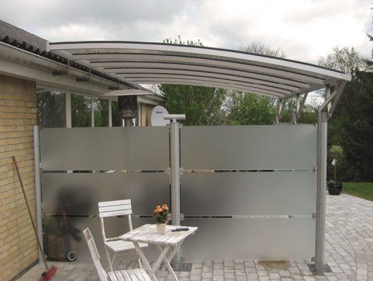 Terrasseoverdækning Vægmodel Med Hævebeslag Aluminium