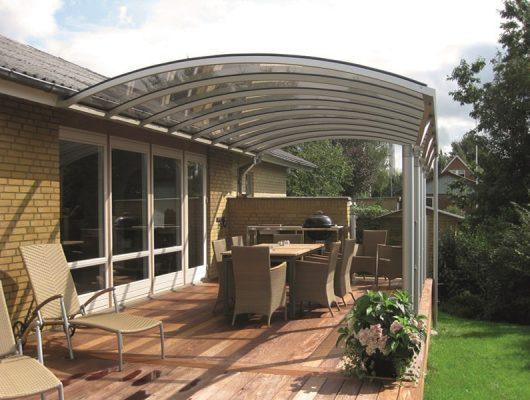 Terrasseoverdækning Vægmonteret